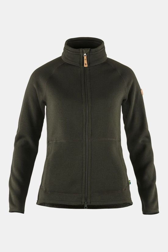 Fjällräven Övik Fleece Zip Sweater Vest Dames Donkerkaki