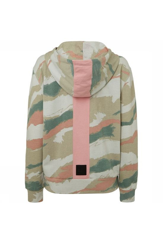 O'Neill Ardisia All Over Print Camo Full Zip Hoodie Beige