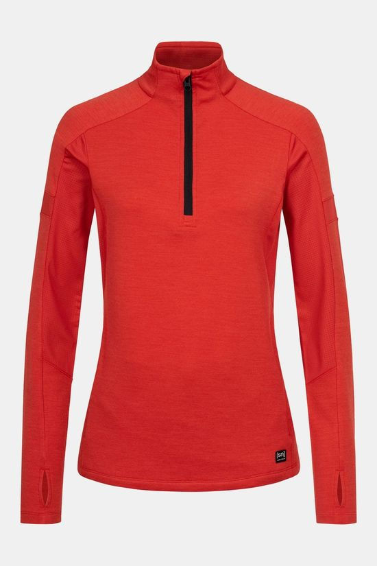 Supernatural Motion 1/4 Zip Trui Dames Rood
