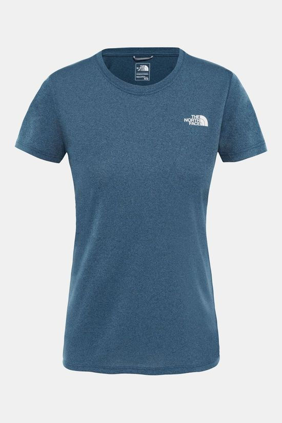 The North Face Reaxion Amp Crew Shirt Dames Petrol/Lichtgrijs