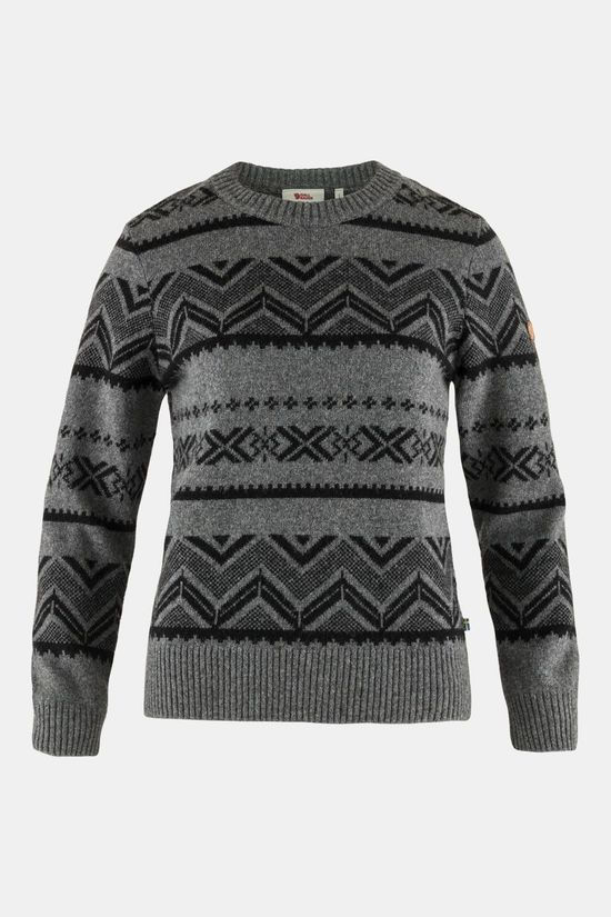 Fjällräven Greenland Re-Wool Pattern Knit Trui Dames Donkergrijs