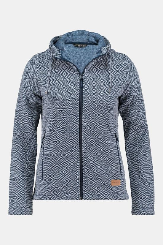 Ayacucho Chilly Spring Hoody Vest Dames Marineblauw/Wit