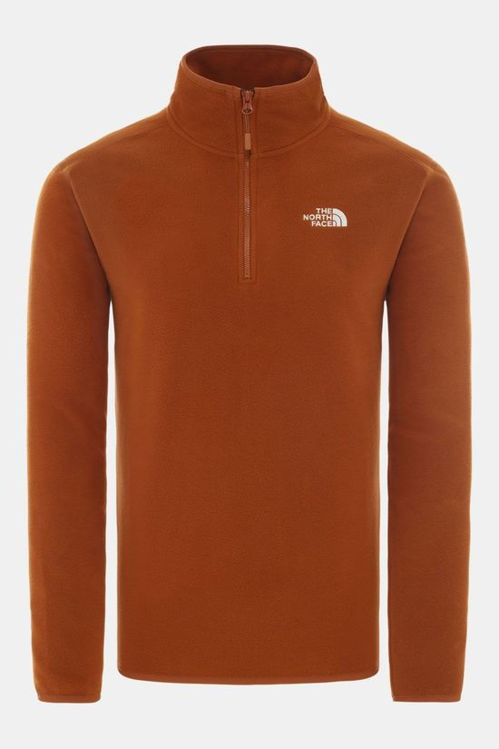 The North Face 100 Glacier 1/4 Zip Trui Kameelbruin/Mokka