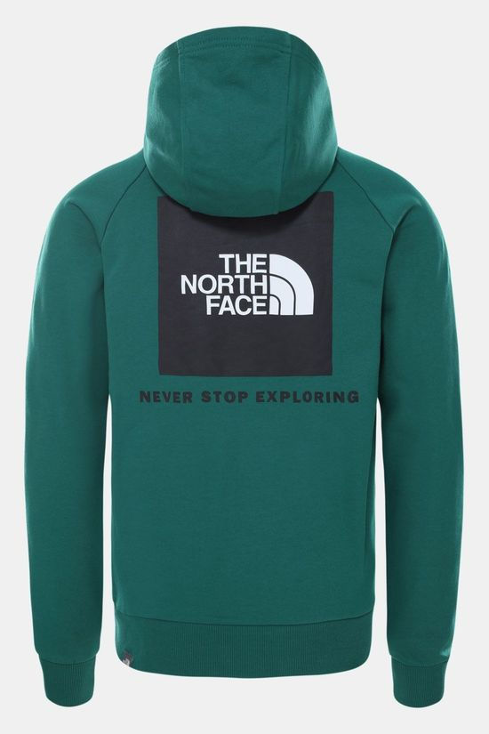 The North Face Raglan Red Box-Hoodie Trui Petrol