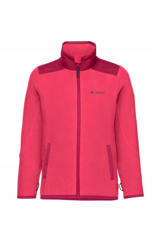 Vaude Racoon Fleece Jas Junior Middenroze/Donkerroze