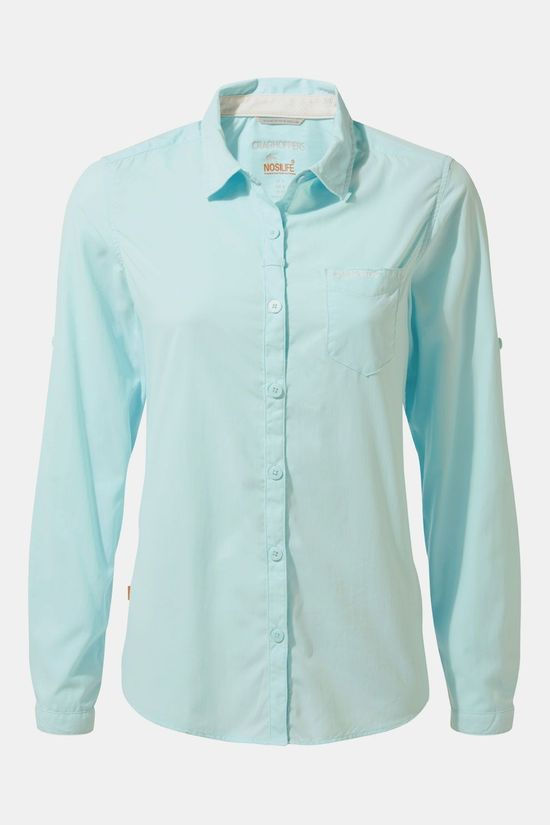 Craghoppers Bardo Long-Sleeved Shirt Dames Lichtblauw