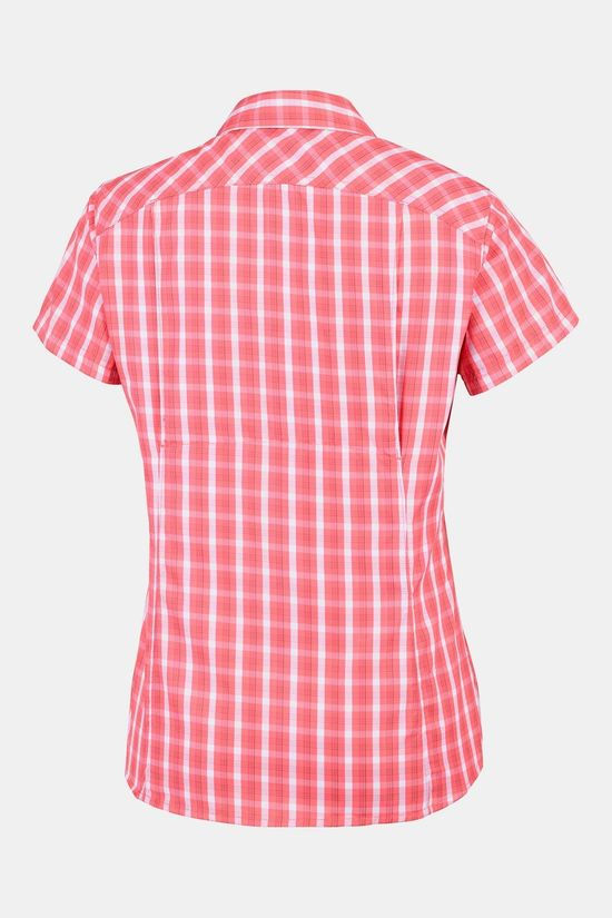 Columbia Silver Ridge 2.0 Plaid Short Sleeve Dames Middenroze