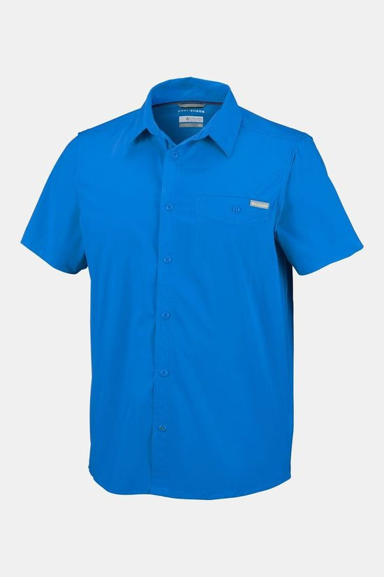 Columbia Triple Canyon  Solid Short Sleeve Shirt Blauw