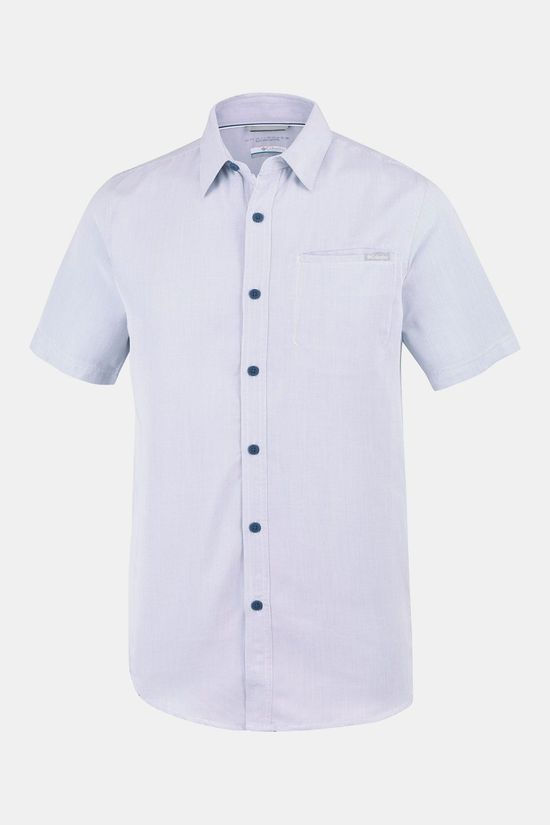 Columbia Nelson Point  Short Sleeve Shirt Indigo Blauw
