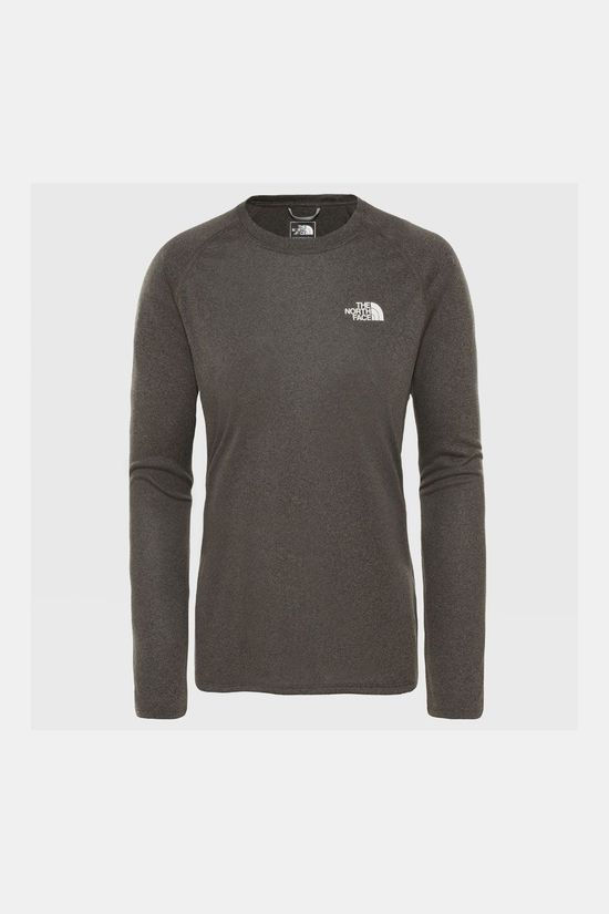 The North Face Reaxion AMP LS Crew Shirt Dames Taupe