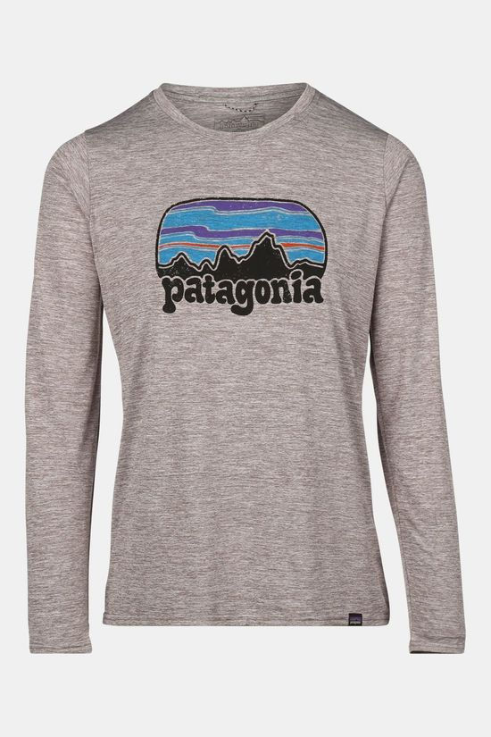 Patagonia L/S Cap Cool Daily Graphic Shirt Dames Lichtgrijs