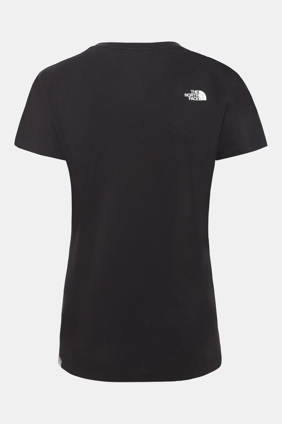 The North Face Easy T-Shirt Dames Zwart