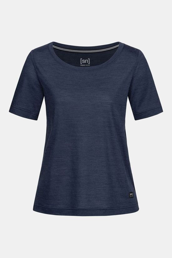 Supernatural Essential Scoop T-shirt 140 Dames Donkerblauw