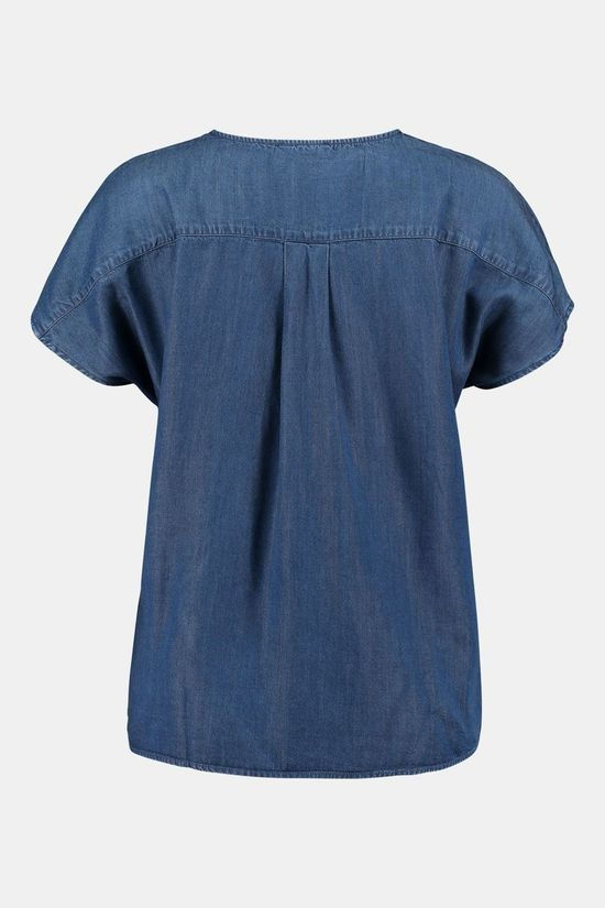 ARMED ANGELS Ajalaa Blouse Dames Blauw/Lichtblauw