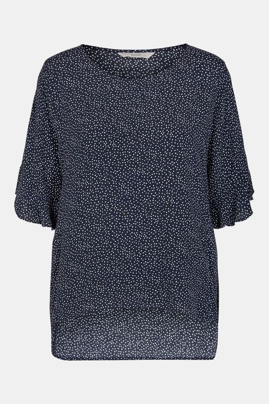 Nümph Courtney Blouse Dames Donkerblauw/Wit