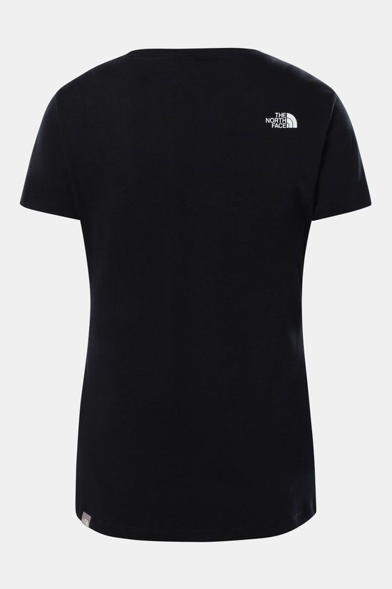 The North Face S/S Simple Dome Tee Dames Zwart