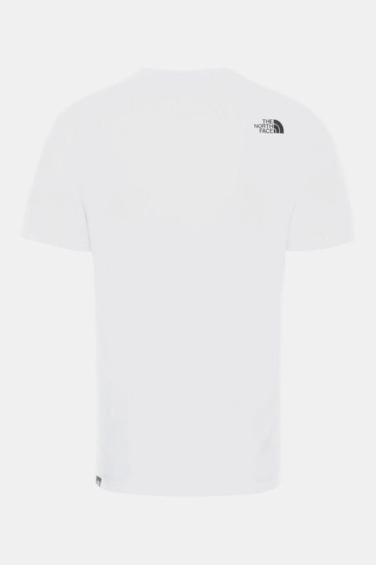 The North Face Mountain Line T-Shirt Wit/Geel
