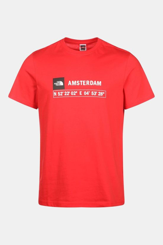 The North Face GPS Tee Amsterdam Shirt Rood/Donkerrood