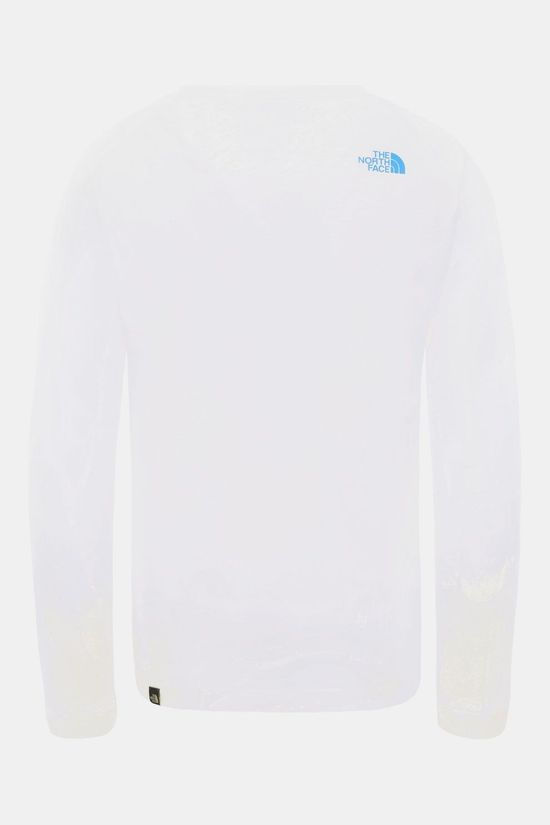 The North Face Easy L/S Shirt Junior Wit/Blauw
