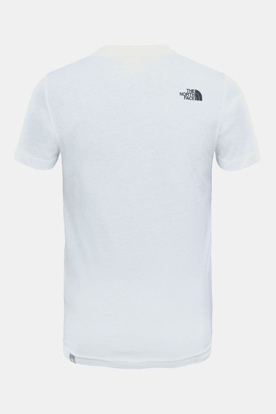 The North Face Box SS Shirt Junior Wit/Rood