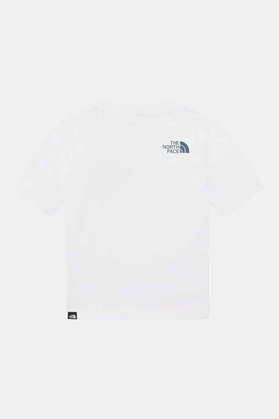 The North Face S/S Easy Tee Junior Wit/Indigoblauw