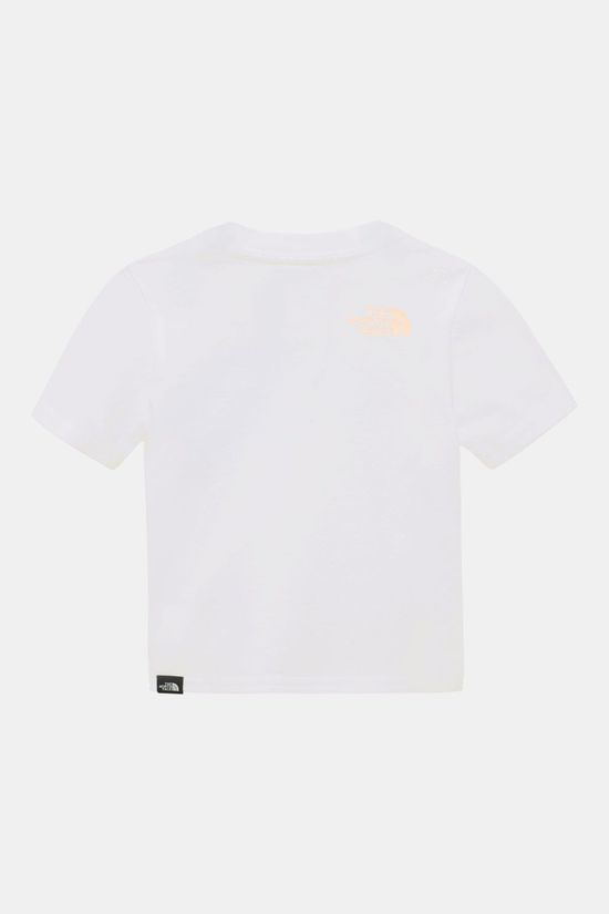 The North Face S/S Easy Tee Baby Wit/Middenroze