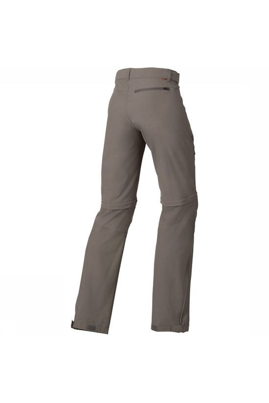 Vaude Farley Stretch T-Zip Regular Broek Dames Bruin