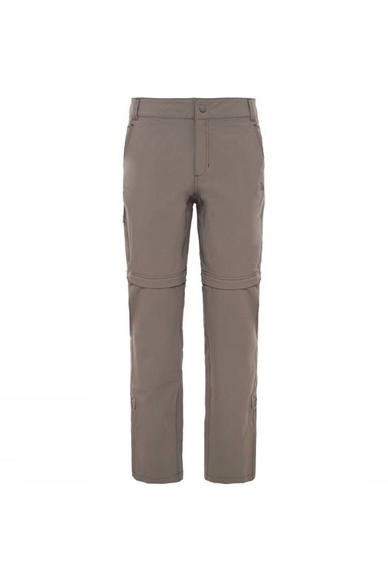 The North Face Exploration Convertible Long Broek Dames Taupe