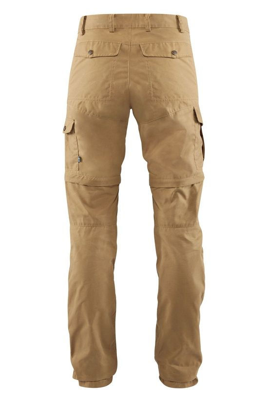 Fjällräven Karla Pro Zip-Off Broek Regular Dames Middenbruin