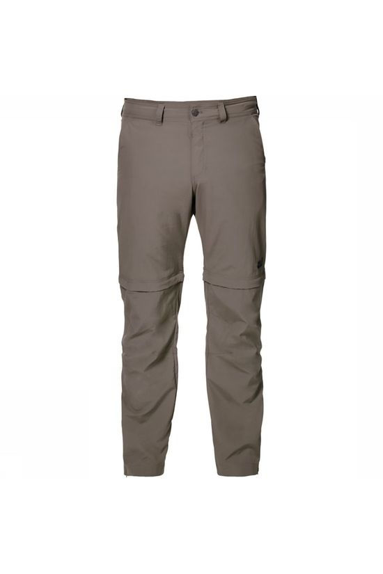 Jack Wolfskin Canyon Zip Off Short Broek Zandbruin