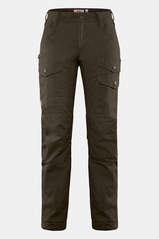 Fjällräven Vidda Pro Ventilated Broek Regular Dames Donkerkaki