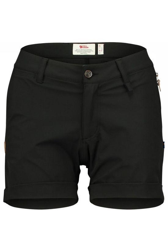 Fjällräven Abisko Stretch Shorts Dames Zwart