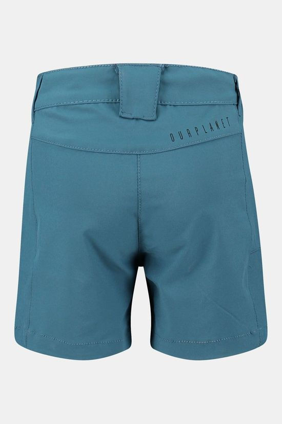 Our Planet Arete Short Junior Meisje Middenblauw/Donkerblauw