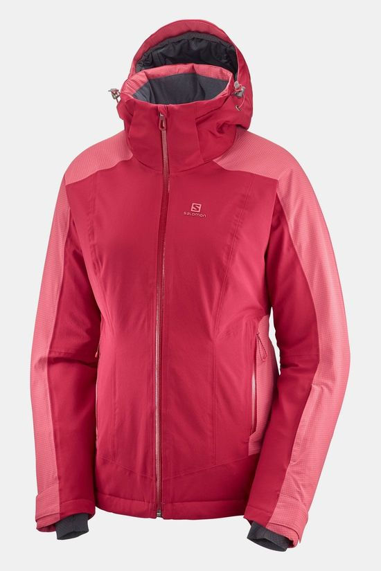 Salomon Brilliant Jas Dames Middenrood/Middenroze