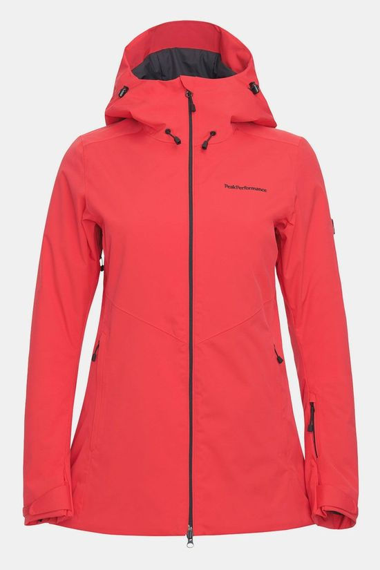 Peak Performance Anima Long Jacket Dames Rood