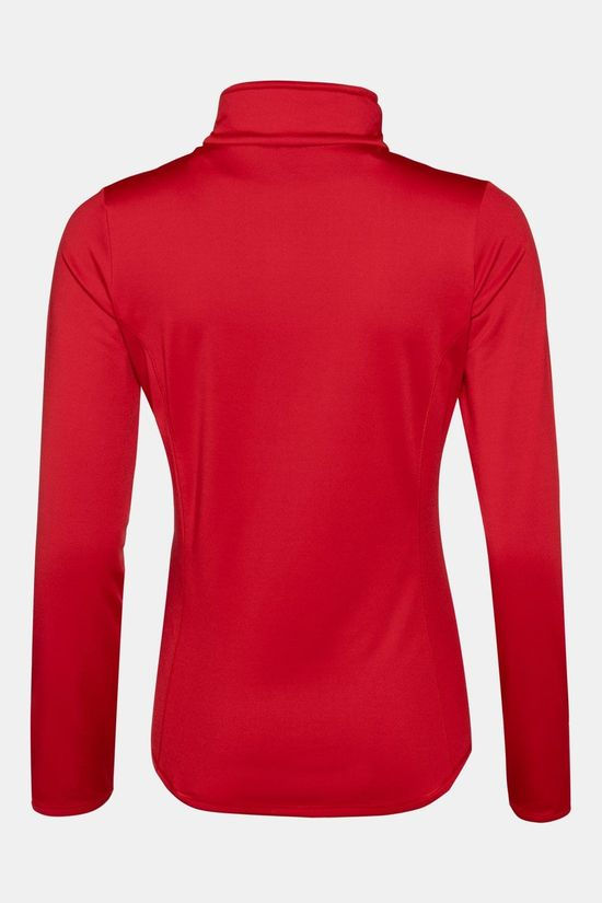 Protest Fabrizoy 1/4 Zip Top Dames  Rood