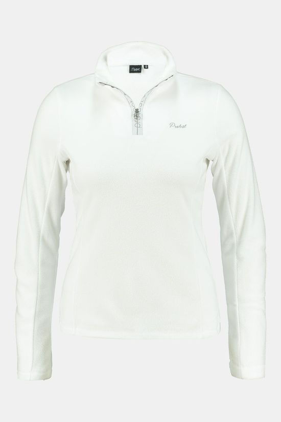 Protest Mutey 1/4 Zip Shirt Dames Wit