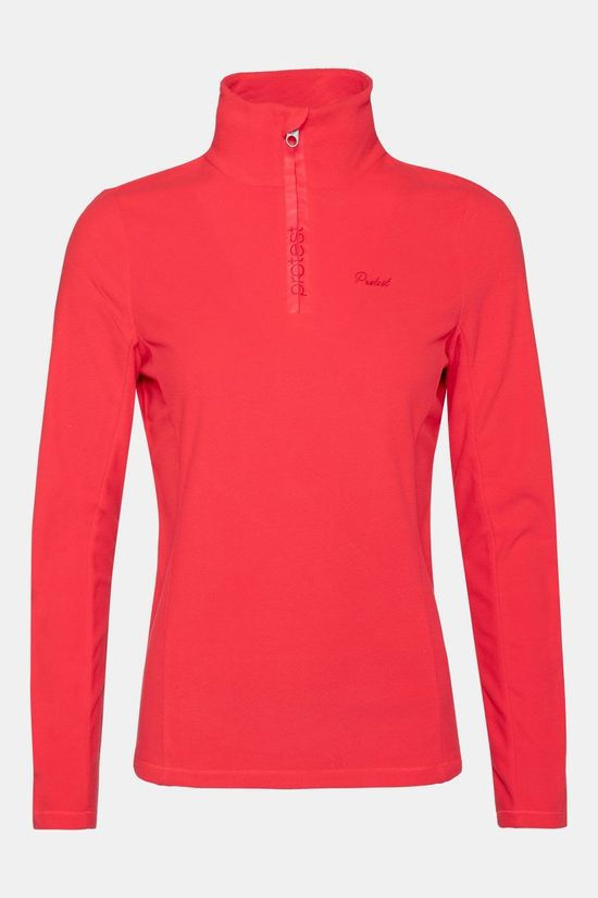 Protest Mutey 1/4 Zip Shirt Dames Middenrood