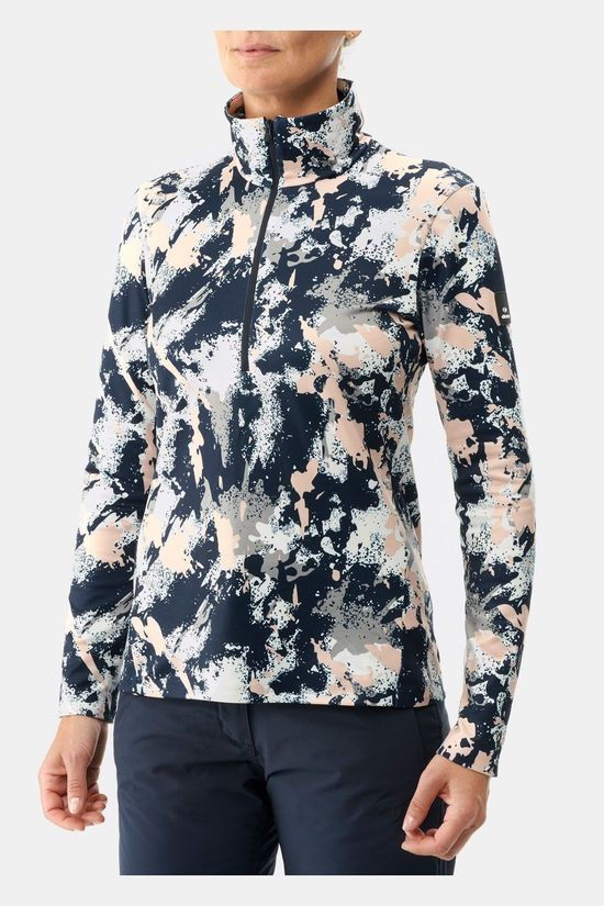 Eider Wax 1/2 Zip Print Dames Pully Lichtroze/Assortiment Camouflage