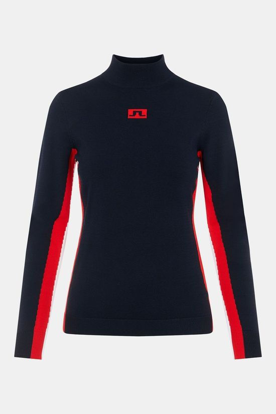 J.Lindeberg Kay Knitted Ski Sweater Dames Donkerblauw/Rood
