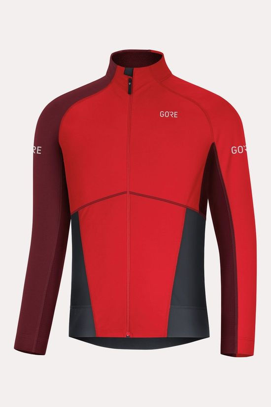 Gore Wear X7 Partial GTX Infinium L/S Shirt Rood/Donkerrood