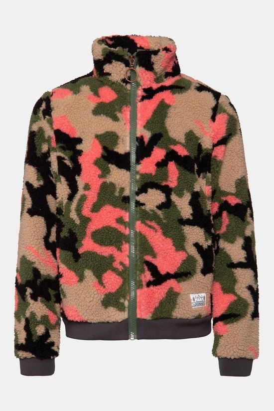 Protest Talla Jr Full Zip Top Kids Donkerkaki/Assortiment Camouflage