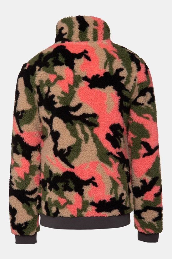 Protest Talla Jr Full Zip Top Kids Donkerkaki/Ass. Camouflage