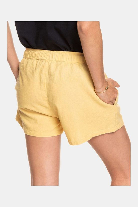 Roxy Love Square Short Lichtgeel