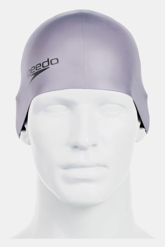 Speedo Plain Moulded Silicone Cap Middengrijs