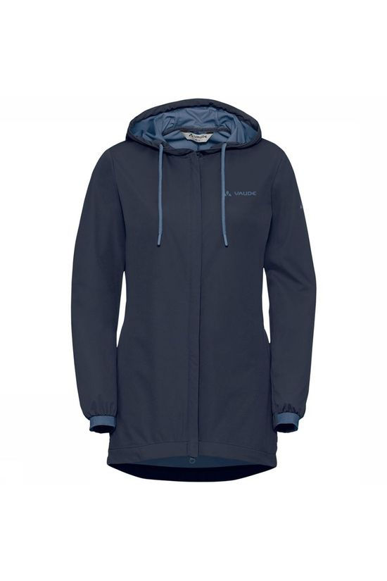 Vaude Cyclist Softshell Jas Dames Donkerblauw