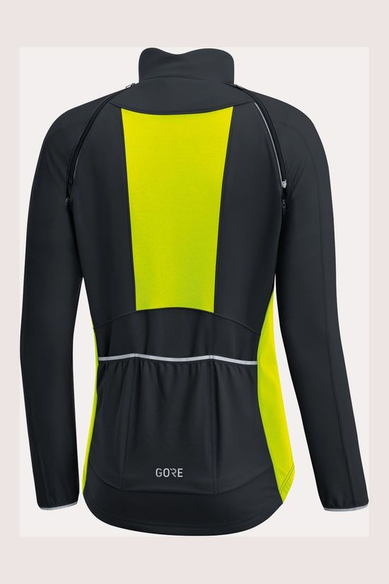 Gore Wear C3 GWS Phantom Zip-Off Jas Dames Zwart/Middengeel