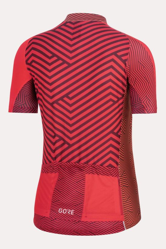 Gore Wear C3 Jersey C Shirt Dames Middenroze/Donkerrood
