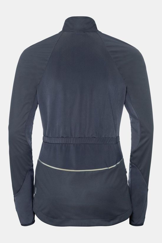 Odlo Zeroweight Windproof Reflect Warm Jas Dames Donkergrijs
