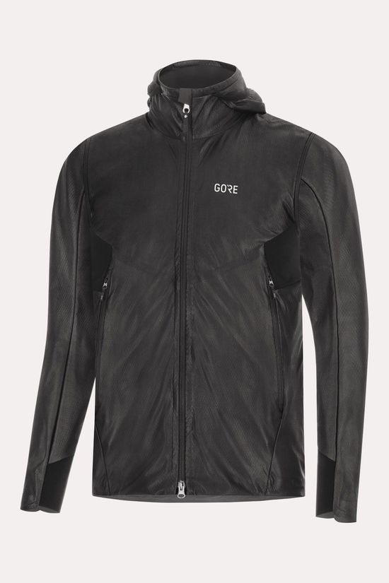 Gore Wear Gore Wear R5 Gore-Tex Infinium Soft Lined Zip-Off Hooded Jas Zwart